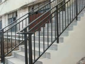 Exterior Stair Handrails Metal High Resolution Railings For Outdoor Stairs 7 Wrought