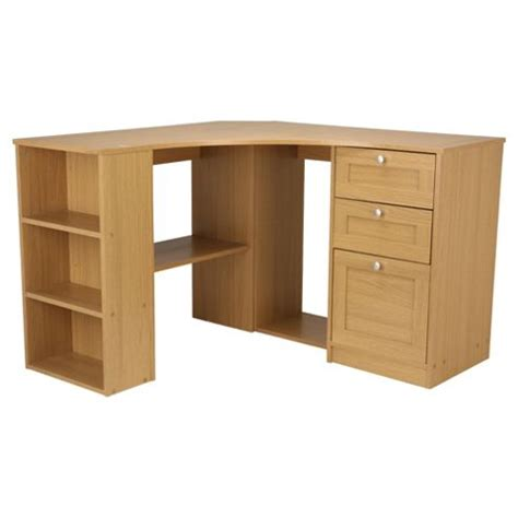 Oak Effect Corner Desk Buy Fraser Corner Desk With Storage From Our Office Desks Tables Range Tesco