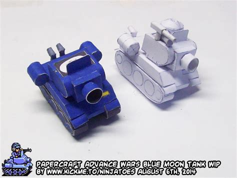 Advance Wars Papercraft - papercraft advance wars blue moon tank wip4 by