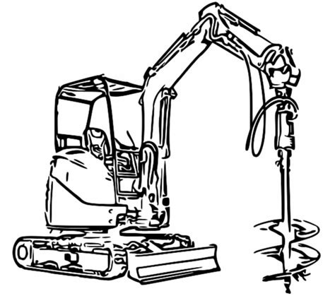 mini excavator coloring pages excavator coloring pages to download and print for free