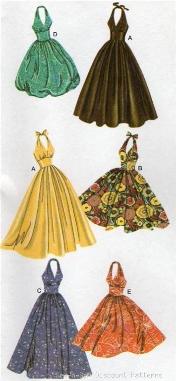 vintage swing dress pattern simplicity 3823 uncut pattern 14 22 halter dress vintage