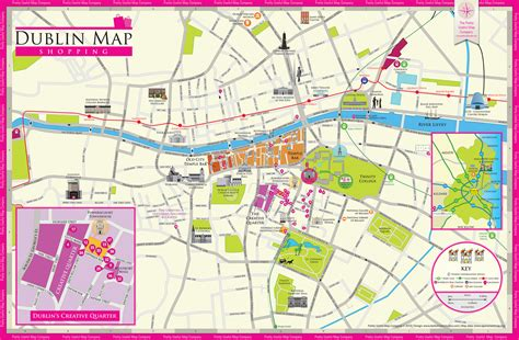 printable map dublin city centre pretty useful map co beautifully illustrated map guides