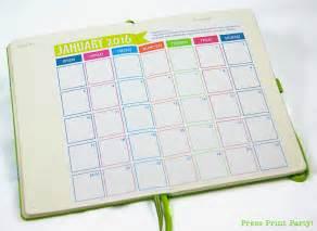 calendar journal template 2016 bullet journal calendar free press print
