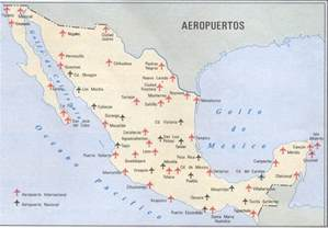 airports in map mexico airports map