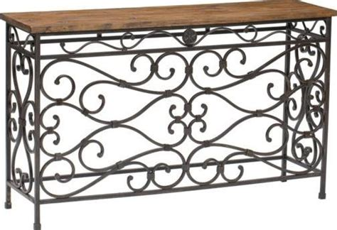 reclaimed wood and wrought iron sofa table furniture metal and wood console table by passport accent