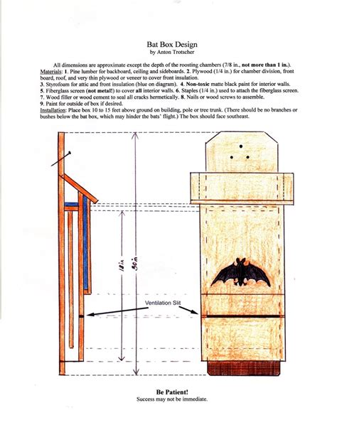 Bat Houses Plans Build A Bat House Http Www Batconservation Org Bat Houses Build Your Own Bat House This Can