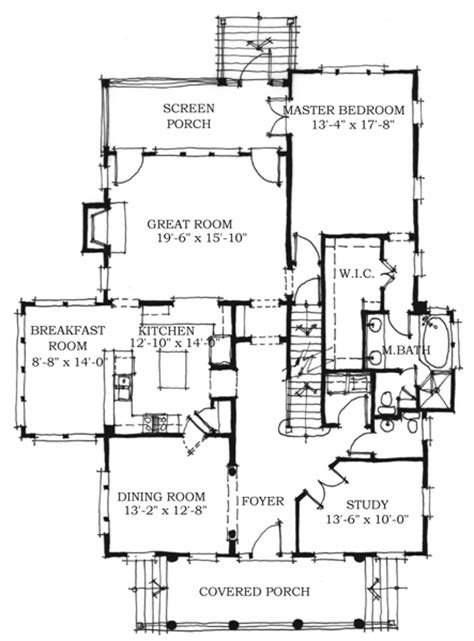 historic southern house plans first floor plan of historic southern house plan 73712
