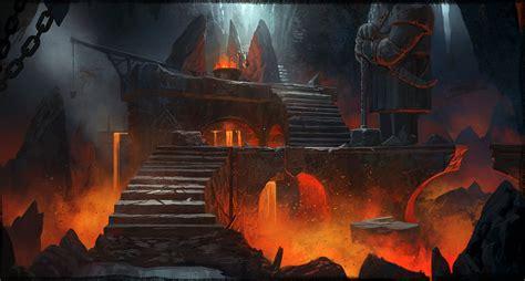 home design lava game dwarven caverns concept art 2 by artofjokinen on deviantart