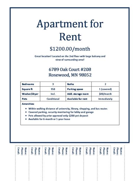 apartment flyers free templates apartment rental flyer template apartments for