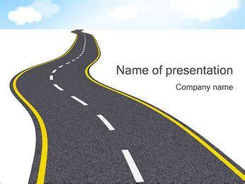 Transportation Powerpoint Templates Backgrounds Smiletemplates Com Road Powerpoint Template
