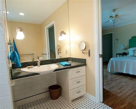ada bathroom design ideas vanity with knee area note pocket door to bedroom