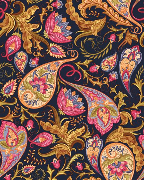 seamless pattern indian indian paisley seamless pattern vector free vector in