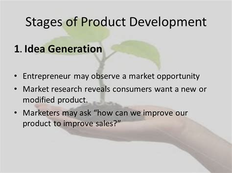 product design idea generation product development ppt download