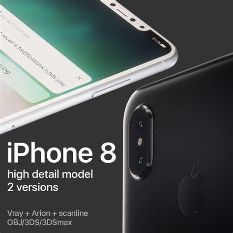 3d model apple iphone 8 turbosquid 1173419