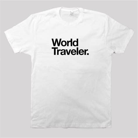 Traveler T Shirt world traveler screen printed t shirt available in s