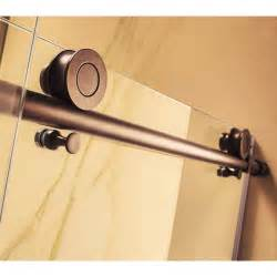 rubbed bronze sliding glass shower doors republic part crsbs0376 orb mocha premium 3 8 thick