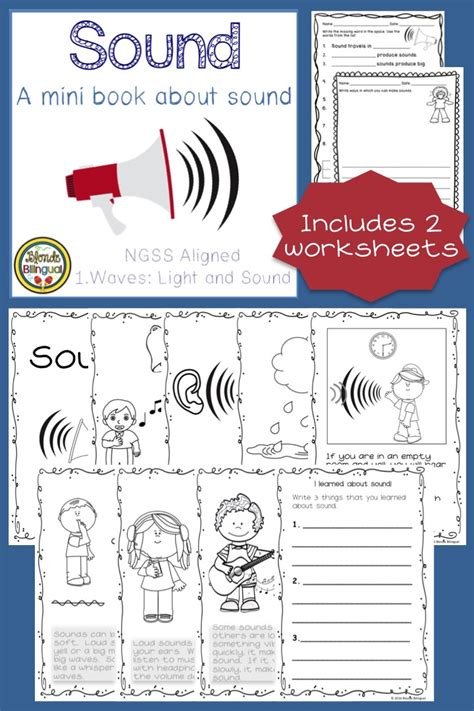 grade light and sound unit sound a mini book about sound ngss aligned worksheets