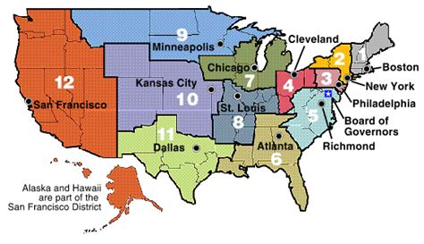 federal reserve bank of the united states frb federal reserve districts and banks
