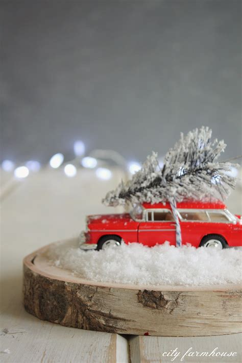 diy birch bark car tree terrarium city farmhouse