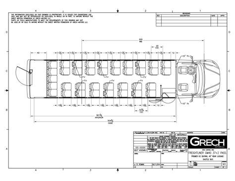 bus floor plans gm40 freightliner shuttle bus white