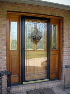 door 3000 series with low e glass andersen 3000 series 36 in black view etched glass