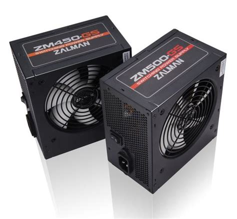 Zalman Gs450 450 Watt zasilacze zalman zm450 gs i zm500 gs w przyst苹pnych cenach
