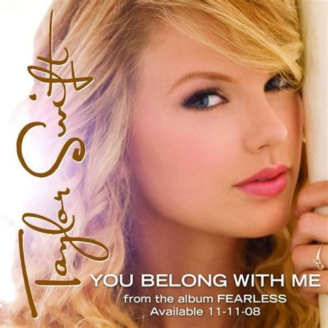you belong with me you belong with me official single cover fearless