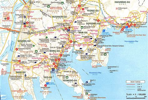 busan south korea map pusan map