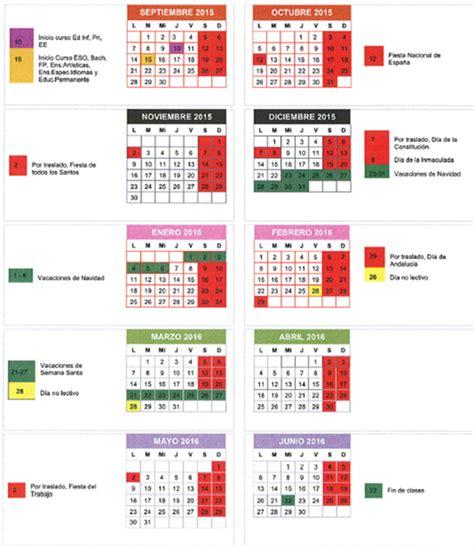 calendario escolar granada para el curso 2015 2016