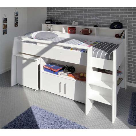 chambre enfant combine lit combin 233 avec bureau et rangement 90x200cm hypnos