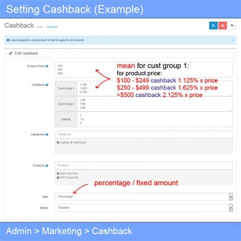 Info Cashback opencart cashback marketing customer reward system