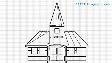 S Drawing In School by How To Draw A School Easy Drawing For