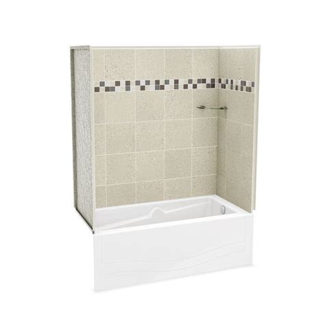 bathtub wall kit maax utile stone sahara tub wall kit with avenue tub right