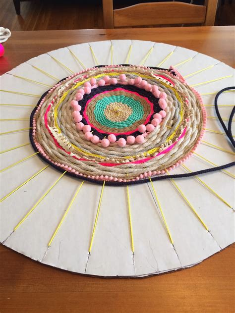 how to weave rugs diy woven pom pom rope rug