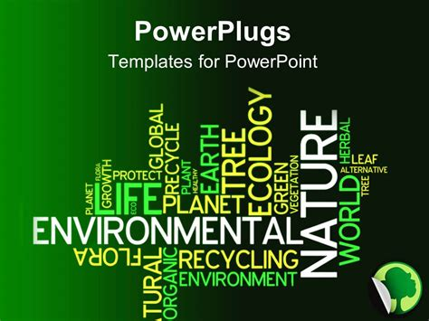 ppt themes related to environment powerpoint template text related to environment with a