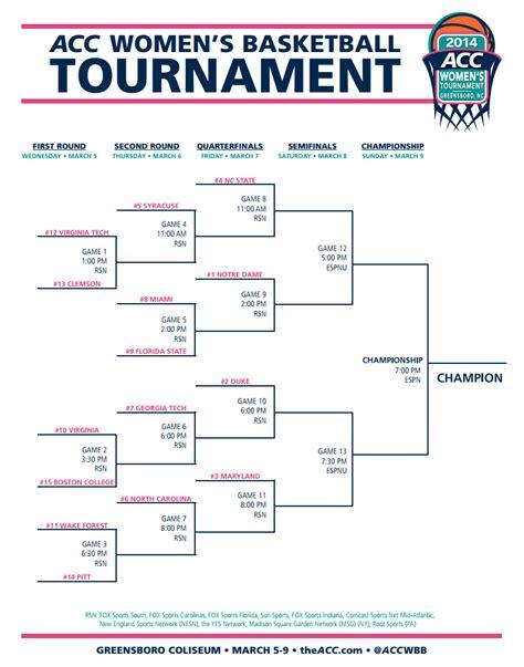 2014 acc basketball tournament bracket wolfpack women play friday statefans nation statefans nation