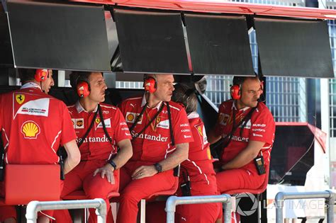 Ferrari F1 Engineer by Jock Clear Ferrari Chief Engineer On The Ferrari Pit Wall