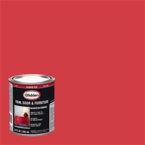 glidden trim and door 1 qt classic gloss interior exterior paint gl 305 04 the home depot