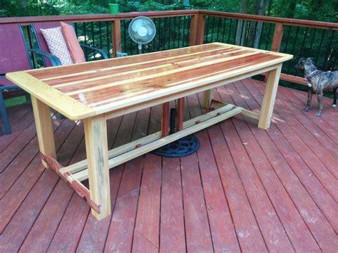 outdoor red cedar and cypress farm table by gabriellus