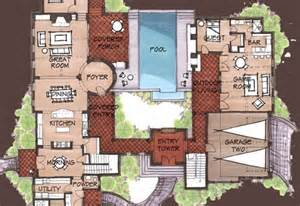 Hacienda Style Floor Plans mexican hacienda floor plans hacienda spanish style home