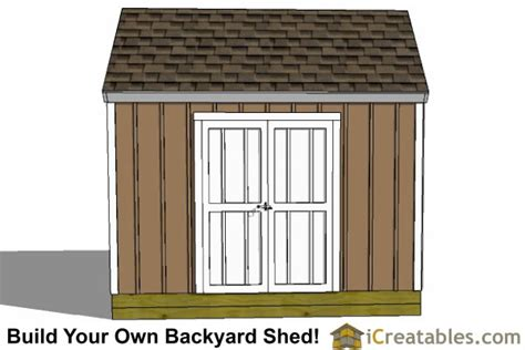 Garden Shed Plans 8x12 by 8x12 Colonial Large Door Shed Plans Backyard Storage