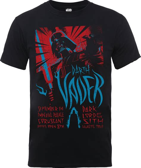 Tshirt Darth Vader wars darth vader rock poster t shirt black