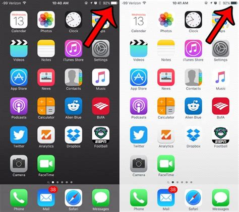 why does my iphone battery icon switch from black to white solve your tech