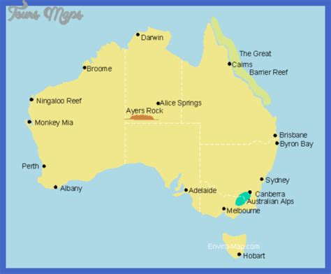 tourist map australia australia map tourist attractions toursmaps