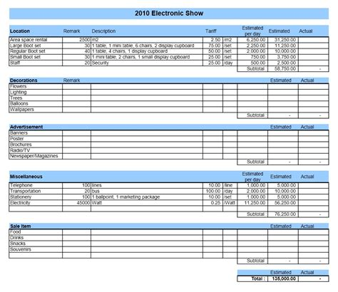 simple excel budget template my excel templates household budget