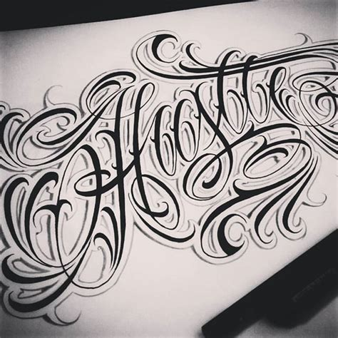 tattoo lettering sketch hustle old sketch lettering letters typography
