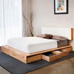 Platform Bed With Storage Lax Storage Platform Bed By Mashstudios Fab