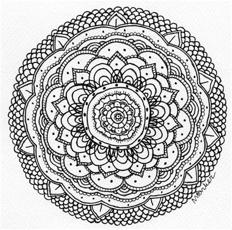 Drawing B W by Freehand Mandala B W 2 By Pencilsandink On Deviantart