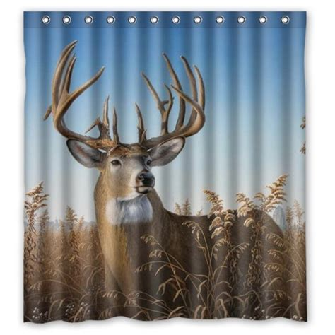 deer shower curtain deer shower curtains kritters in the mailbox deer