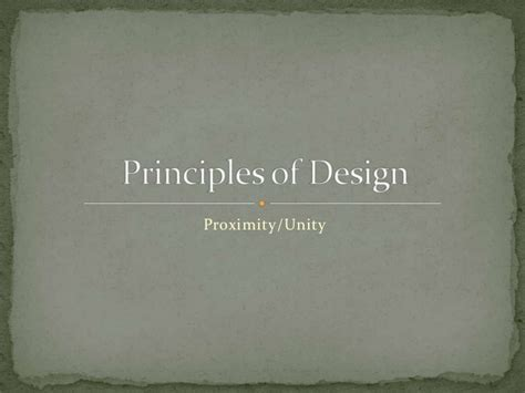 graphic design unity definition principles of design proximity and unity